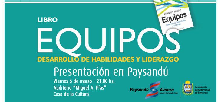 EQUIPOS, el viernes 6 de marzo en Paysandú
